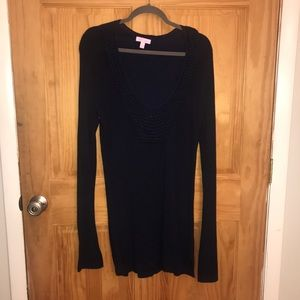 Lilly Pulitzer Large Navy Roberts tunic sweater